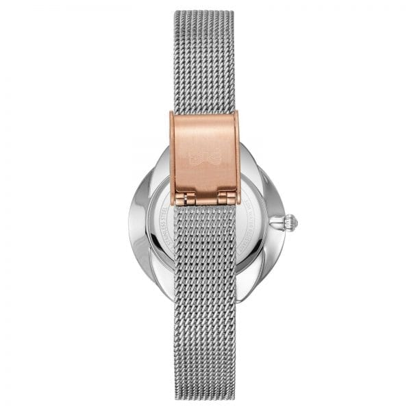 Ted Baker French Bulldog Rose Gold Plated Stainless Steel Case Mesh Stainless Steel Strap Ladies Watch TE15198020 30mm