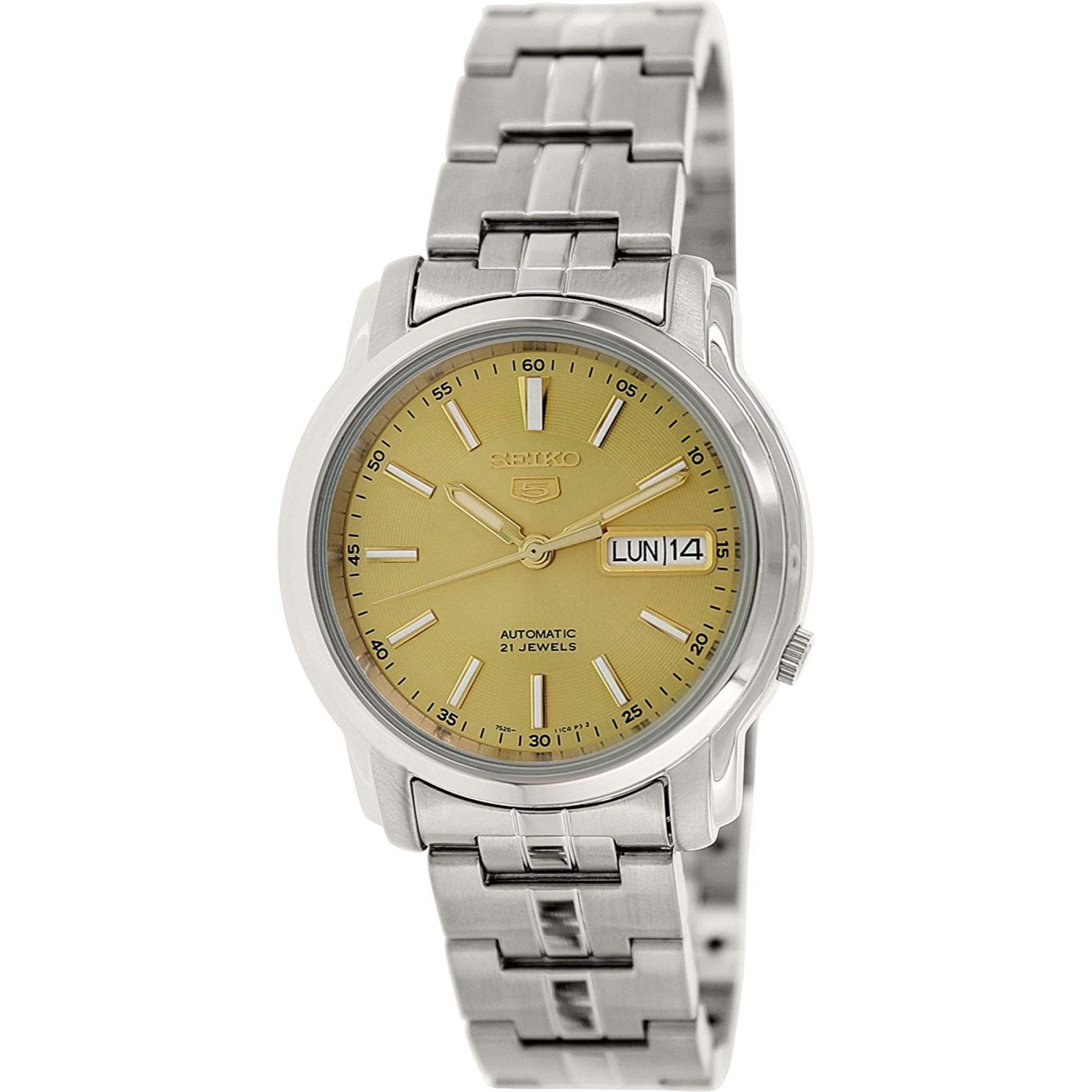 Seiko 5 Automatic Gold Dial Silver Stainless Steel Men's Watch SNKL81K1