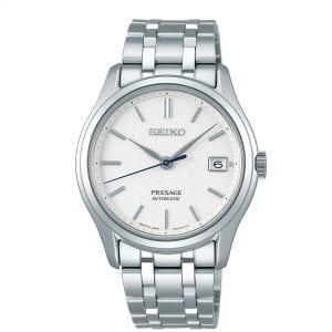 Seiko Presage Zen Garden Automatic White Dial Silver Stainless Steel Men's Watch SRPD97J1