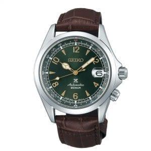 Seiko Prospex Alpinist Automatic Green Dial Brown Leather Strap Men's Watch SPB121J1