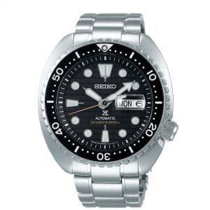 Seiko Prospex 'King Turtle' Automatic Black Dial Silver Stainless Steel Diver's Men's Watch SRPE03K1
