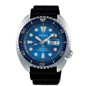 Seiko Prospex Save The Ocean 'King Turtle' Automatic Blue Sea Dial Black Silicone Men's Watch SRPE07K1