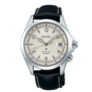 Seiko Prospex Alpinist Automatic Cream Dial Black Leather Strap Men's Watch SPB119J1