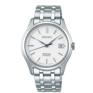 Seiko Presage Zen Garden Automatic White Dial Silver Stainless Steel Men's Watch SRPD97J1
