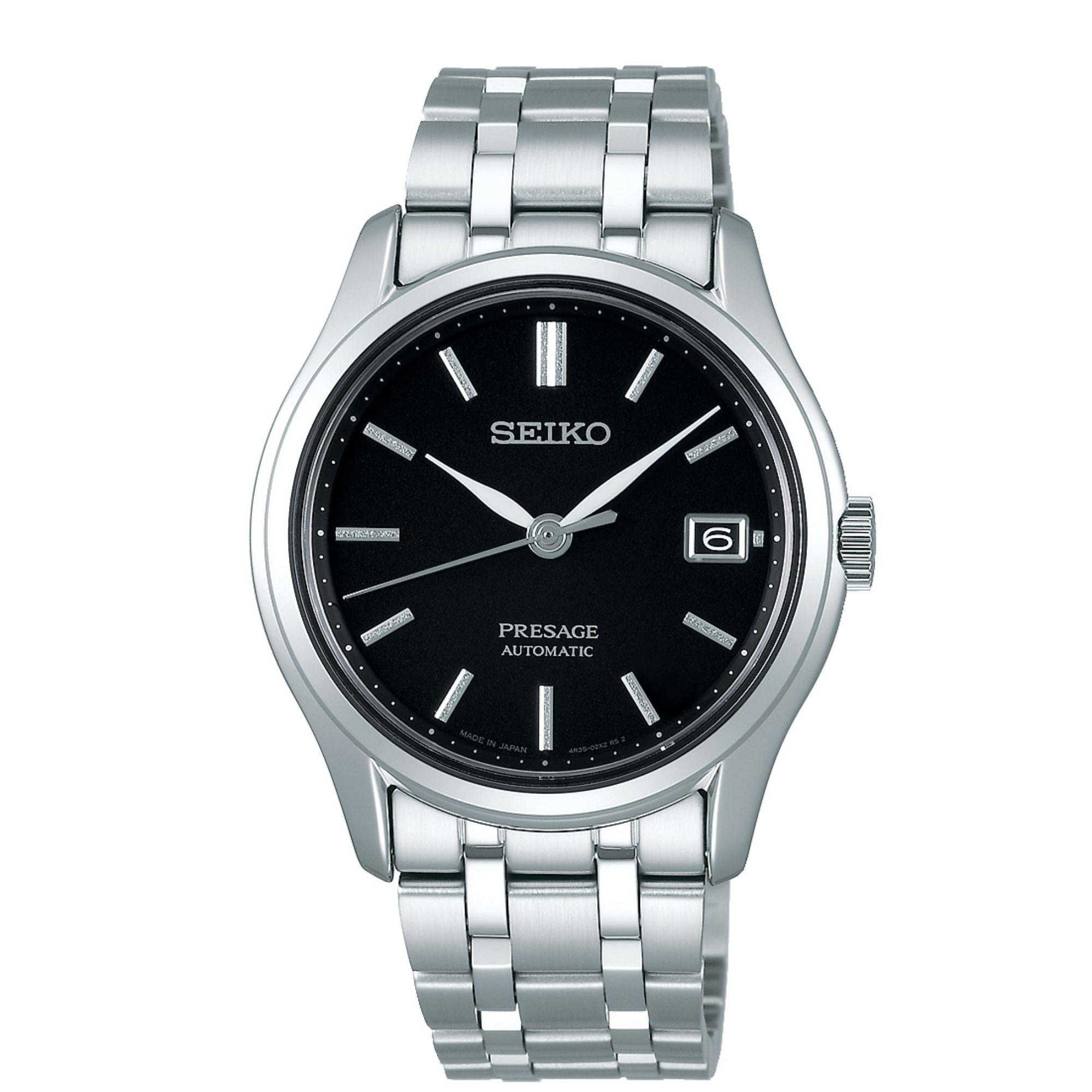 Seiko Presage Zen Garden Automatic Black Dial Silver Stainless Steel Men's Watch SRPD99J1