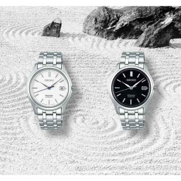 Seiko Presage Zen Garden Automatic Black Dial Silver Stainless Steel Men's Watch SRPD99J1