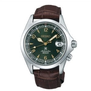 Seiko Prospex Alpinist Automatic Green Dial Brown Leather Strap Men's Watch SPB121J1
