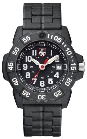 Luminox Navy SEAL 3500 Series Men's Watch XS.3502Luminox's Navy SEAL 3500 Series is the latest and most potent evolution of the company's hugely popular Navy SEAL timepiece collection. Favoured by diver's and available in a slightly chunkier and robust 45mm case size, the series features this Luminox Navy SEAL 3500 Series Men's Watch (XS.3502), a classic iteration of the Luminox approach to watchmaking. SKUXS.3502FamilyNavy SEALMovementSwiss QuartzDial ColourBlackCase Size45mmCase MaterialCARBONOXCase BackScrew on casebackCrownDouble-security gasketGlassHardened mineral crystalBezelUni-directional rotatingStrap TypeSilicone strapStrap MaterialBlack signature PUBezel LLTOrangeLLT on Dial 12HOrangeLLT on Dial 1-1 1HGreenLLT on Hour HandGreenLLT on Minute HandOrangeLLT on Second HandGreenIlluminationNight Vision Tubes (25 Years)Guarantee2-Year Manufacturer'sWater Resistency200m
