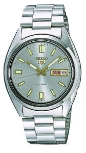 Seiko 5 Automatic Grey Dial Silver Stainless Steel Men's Watch