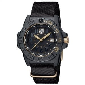 Luminox Limited Edition 3500 Series Black Dial Canvas Strap With Extra Strap Men's Watch XS.3501.GOLD.SET