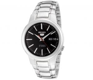 Seiko 5 Automatic Black Dial Stainless Steel Men's Watch SNKA07K1