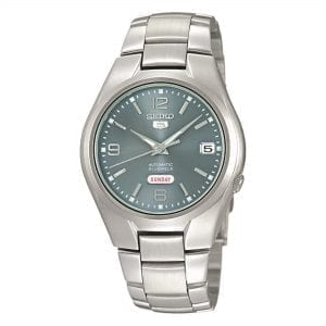 Seiko 5 Automatic Black Dial Silver Stainless Steel Men's Watch SNK621K1