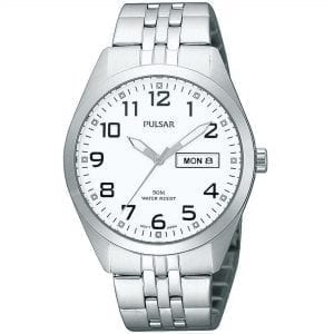 Pulsar Classic Quartz White Dial Silver Stainless Steel Bracelet Men's Watch PV3005X1 RRP £69.95