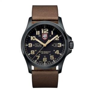 Luminox Atacama Adventurer Field Quartz Black Dial Brown Leather Strap Men's Watch XL.1929 RRP £560
