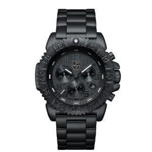 Luminox Navy SEAL Quartz Black Out Dial Stainless Steel Case Chronograph Men's Watch XS.3182.BO.L RRP £599