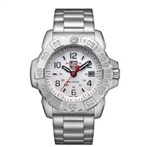 Luminox Navy SEAL Quartz White Dial Silver Stainless Steel Men's Watch XS.3258 RRP £529