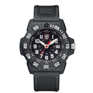 Luminox Navy SEAL Quartz Black Dial Rubber Strap With Extra Strap Men's Watch Set XS.3501.VP1.SET RRP £498