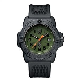 Luminox Navy SEAL Quartz Green Dial Black Rubber Strap With Extra Strap Men's Watch Set XS.3517.NQ.SET RRP £419