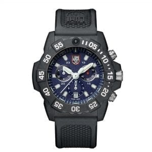 Luminox Navy SEAL Quartz Blue Dial Black Rubber Strap Chronograph Men's Watch XS.3583 RRP £449