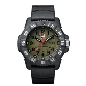 Luminox Master Carbon SEAL Quartz Green Dial Black Rubber Strap Men's Watch XS.3813 RRP £630