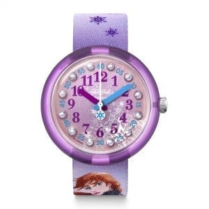 Flik Flak Disney Frozen 2 Quartz Purple Dial Textile Strap Girls Watch FLNP031 RRP £39