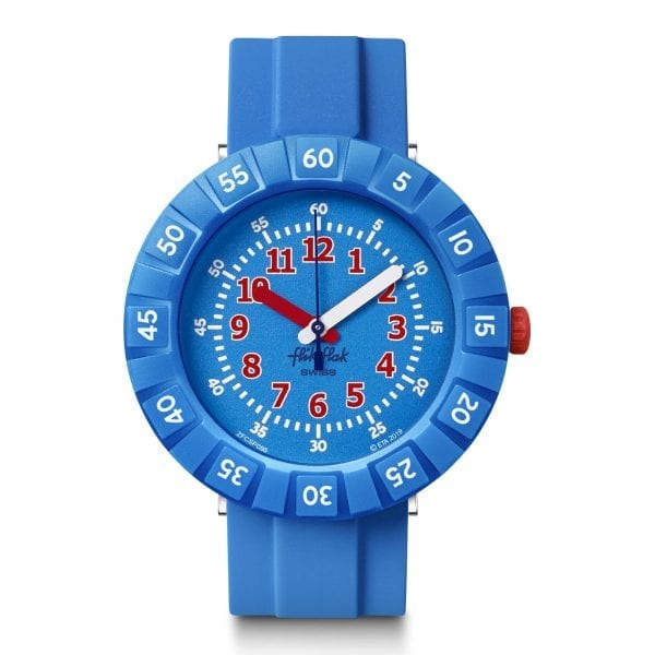 Flik Flak Blue My Mind Quartz Blue Plastic Strap Boys Watch FCSP096 RRP £39
