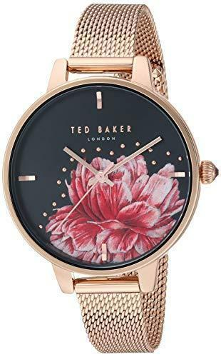 Ted Baker Kate Rose Gold Tone Steel Case Rose Gold Mesh Strap Ladies Watch TE50005027 36mm