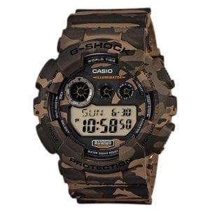 Casio G-Shock Quartz Digital LCD Dial Camo Resin Strap Men's Watch GD-120CM-5CR RRP £99