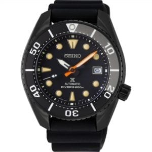 Seiko Limited Edition Diver's Prospex Black Series 'Sumo' Automatic Black Dial Silicone Strap Men's Watch SPB125J1