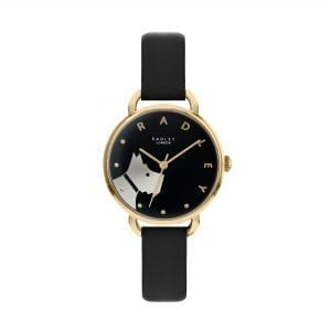 Radley Wood Street Quartz Black Dial Black Leather Strap Ladies Watch RY2876 RRP £79.95