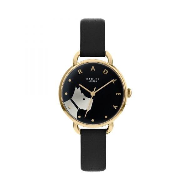 Radley Wood Street Quartz Black Dial Black Leather Strap Ladies Watch RY2876 RRP £79.95