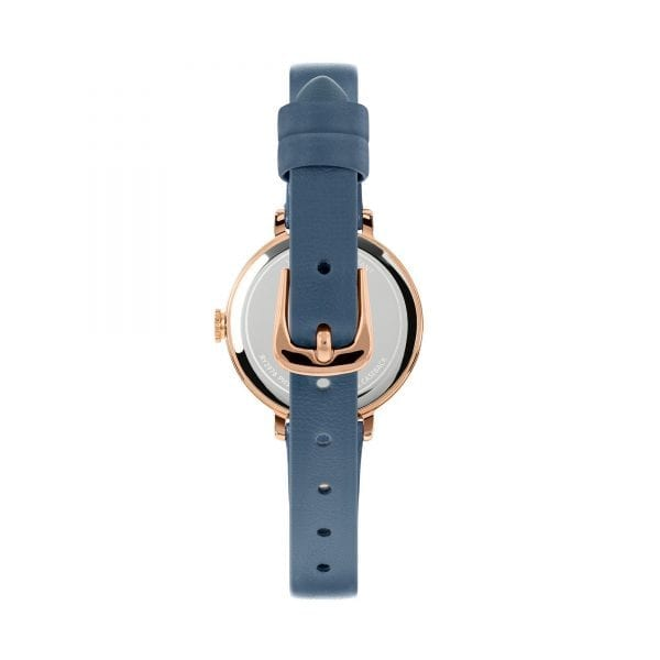 Radley Sketchbook Mini Quartz Rose Gold Dial Blue Leather Strap Ladies Watch RY2978 RRP £50