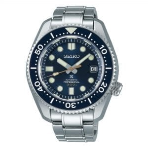Seiko Prospex Marine Master 'MM300' Diver's Automatic Blue Ocean Dial Silver Stainless Steel Men's Watch SLA023J1