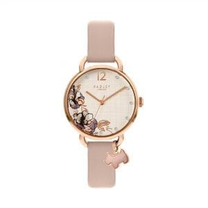 Radley Sketchbook Floral Quartz White Dial Pink Leather Strap Ladies Watch RY2982 RRP £75