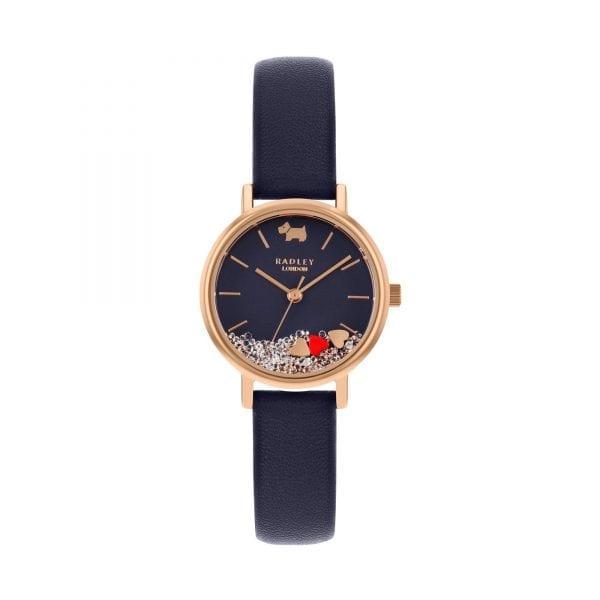 Radley Hello Love Quartz Blue Dial Blue Leather Strap Ladies Watch RY2990 RRP £79.95