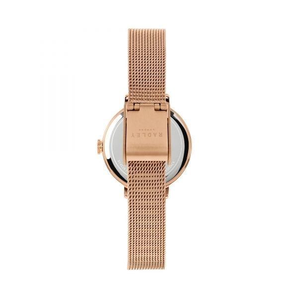 Radley Sketchbook Floral Quartz Rose Gold Dial Rose Gold Mesh Stainless Steel Bracelet Ladies Watch RY4524 RRP £79.95