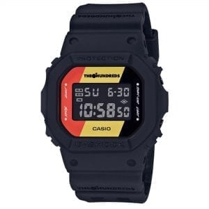 Casio G-Shock X The Hundreds Limited Edition 35th Anniversary Retro Digital LCD Dial Black Resin Strap Men's Watch DW-5600HDR-1ER RRP £139