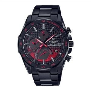 Casio Edifice Honda Racing Solar Black Dial Ion Plated Stainless Steel Bracelet Men's Watch EQB-1000HR-1AER RRP £499