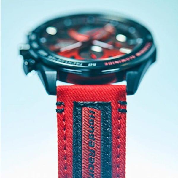 Casio Edifice Honda Racing Solar Black Dial Red Fabric Strap Men's Watch EQB-1000HRS-1AER RRP £799