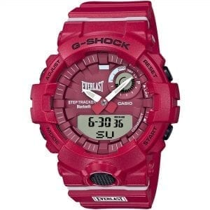 Casio G-Shock X Everlast Limited Edition Bluetooth Quartz Red Dial Resin Strap Men's Watch GBA-800EL-4AER RRP £159