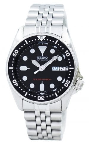 "The Watch: Seiko SKX013K2This Seiko Diver's Automatic Black Dial Men's Watch (SKX013K2) has a black dial protected by a stainless steel case and Hardlex glass. Featuring a day and date display, unidirectional rotating bezel, luminous hands and hour markers, and a stainless steel bracelet, the watch is water resistant to 200m. Key Features:Seiko 7S26 calibire, 21-jewel automatic movementHardlex glassLuminous hands and marker200m water resistant certified diving watchDay and date displayUnidirectional rotating bezel The Family: ProspexThe Seiko Prospex family uses Seiko's innovative ethos to combat the watchmaker's greatest challenge, adventure sports. Whether at sea, on land or in the sky, this collection of timepieces will deliver trademark Seiko precision and reliability in even the most adverse of weather conditions. The Brand: SeikoSeiko's 135-year history has been marked by a ceaseless determination to innovate in every aspect of the watchmaker's art. By embracing this mantra, Seiko has been responsible for a string of industry-leading advances in the technology of time, such as the world's first quartz watch, the world's first TV watch, and the Seiko Kinetic, the first watch ever to generate its own electricity from the movement of the wearer. Seiko are unique in that they manufacture every aspect of every watch in-house, with this ruthless pursuit of perfection even including growing their own quartz crystals and sapphires. Who We AreWatchNation is proud to be an authorized, established and respected supplier of Seiko watches. We stock a broad and exciting range of these superb timepieces both online and in store. Visiting us in store, located at 15-17 Charles Street, Hoole, Chester, CH2 3AZ, gives you the opportunity to take a first-hand look at our fantastic range of high-quality timepieces, with our friendly team of staff always on hand to use their decades of experience to offer helpful advice, useful information and expert guidance. If you can't pay a visit to our store, then our online delivery service guarantees that your latest timepiece will go from checkout to your wrist in a fast and reliable manner. These services are all a product of the motto on which WatchNation was founded and will forever operate – ""Time for the People."""