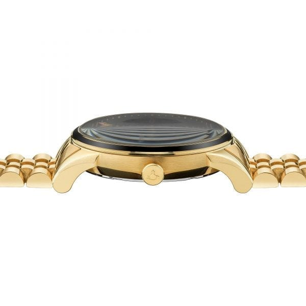 Vivienne Westwood The Wallace Quartz Black Dial Gold PVD Stainless Steel Ladies Watch VV208GBGD RRP £255