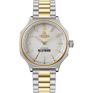Vivienne Westwood The Mile End Quartz Silver Dial Two Tone Silver Gold Stainless Steel Ladies Watch VV227SLGD RRP £235