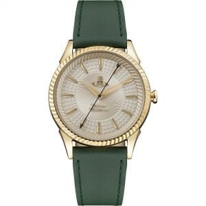 Vivienne Westwood The Seymour Quartz Gold Dial Green Leather Strap Ladies Watch VV240GDGR RRP £215
