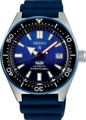 The Watch: Seiko Prospex Automatic First Diver's Re-Creation PADI Special EditionDiver's Watch SPB071J1Inspired by Seiko's first ever diver's watch from 1965, this Seiko Prospex Automatic First Diver's Re-Creation PADI Special Edition Diver'sWatch (SPB071J1) is brought throughly up-to-date by the latest Seiko watchmaking technologies. Bearing the same robustness and legibilty that made the original a vital navigational tool for the Japanese Antarctic Research Expedition from 1966 to 1969, this modern take speaks to both Seiko's distinguished heritage and its exciting partnership with the world's largest recreational diving and teaching organization.For all you Seikoenthusiasts, this premium timepiece has been made and produced in Japan, indicated by the suffix 'J'. Seiko watches made in Japan are notoriously hard to obtain outside of Japan due to the highest quality of craftmanship and astonishing features that come in each individual timepiece. We have a range of Japanese watches here at Watchnation but in limited quantities, so if you are looking to add to your collection then this is the perfect place for you.Key Features:Exclusive Seiko 6R15 calibre, 23 jewel, 50 hour power reserve automatic movementExtra wide Lumibrite handsZaratsu polished line on the case sideSuper-hard coating to ensure maximum durabilityAnti-reflective-coated sapphire crystal glassScrew-down crown and case backThree lock clasp with secure lockSilicone strapWater resistant to 200mThe Family: ProspexThe Seiko Prospex family uses Seiko's innovative ethos to combat the watchmaker's greatest challenge, adventure sports. Whether at sea, on land or in the sky, this collection of timepieces will deliver trademark Seiko precision and reliability in even the most adverse of weather conditions.The Brand: SeikoSeiko's 135-year history has been marked by a ceaseless determination to innovate in every aspect of the watchmaker's art. By embracing this mantra, Seiko has been responsible for a string of ind