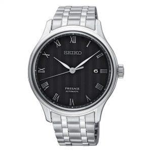 Seiko Presage Zen Garden Karesansui Automatic Black Dial Silver Stainless Steel Men's Watch SRPC81J1 RRP £449