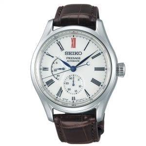 Seiko Presage Automatic Arita Porcelain White Dial Brown Leather Strap Men's Watch SPB093J1 RRP £1,750