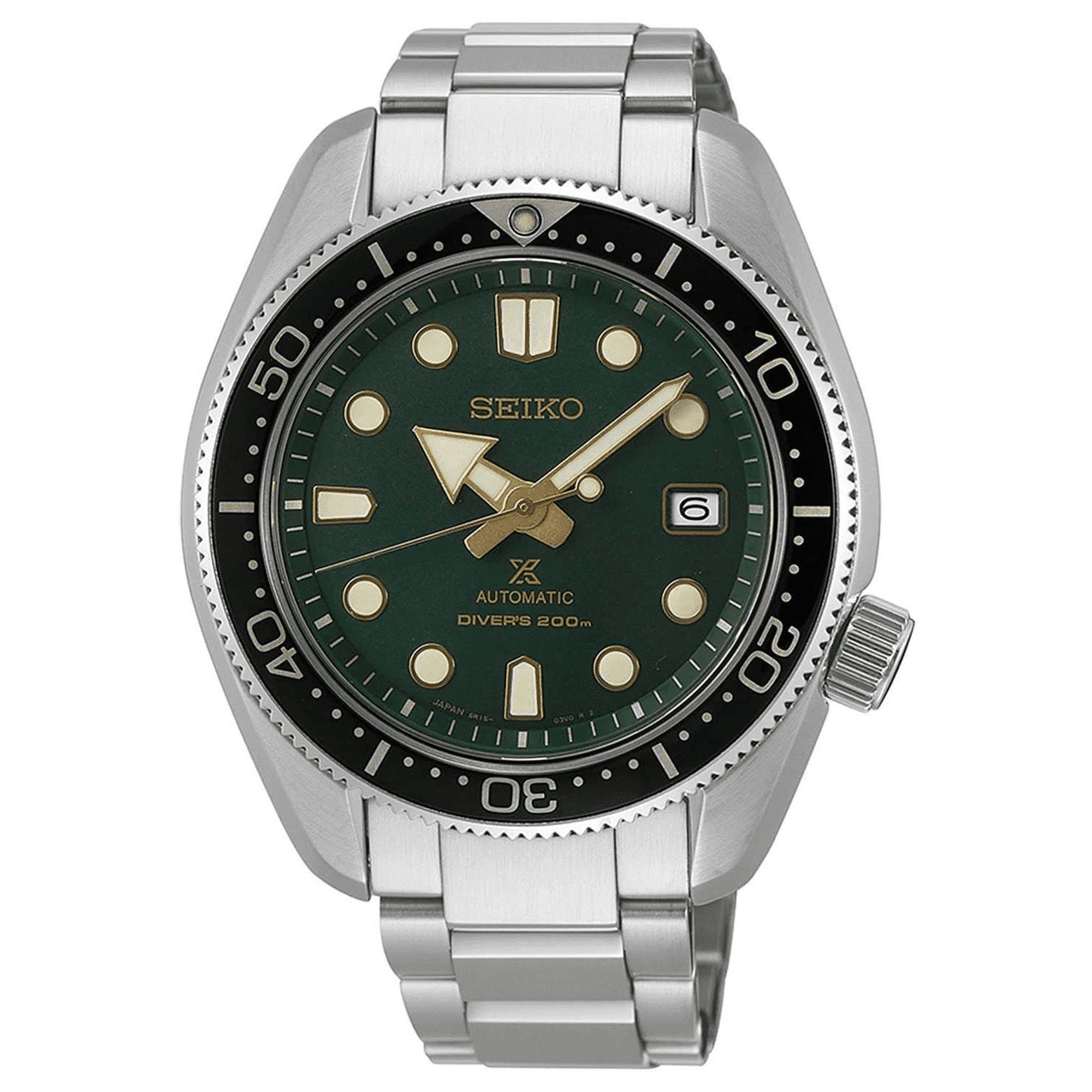 Seiko Prospex Special Edition 1968 Recreation 'Dark Green Sunset' Automatic Green Dial Silver Stainless Steel Men's Watch SPB105J1 RRP £980