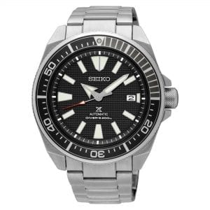 Seiko Prospex Samurai Automatic Black Dial Silver Stainless Steel Diver's Men's Watch SRPB51K1 RRP £399