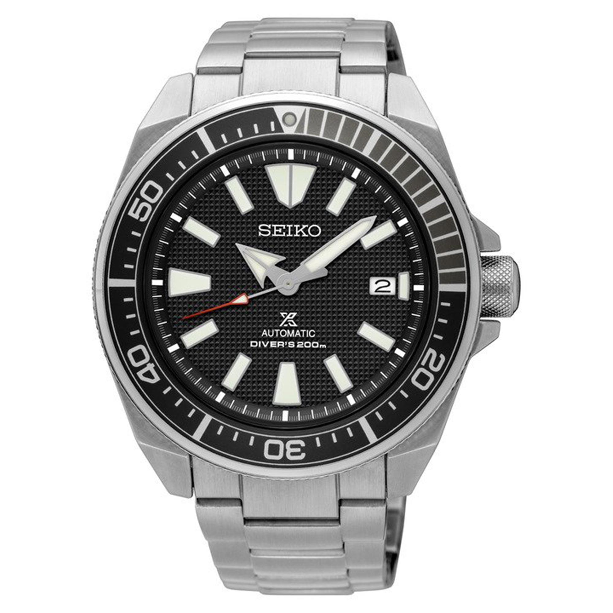 Seiko Prospex Samurai Automatic Black Dial Silver Stainless Steel Diver's Men's Watch SRPB51K1 RRP £399